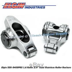 Stainless Steel Roller Rocker Arms 1.6 Ratio 3/8 Studs Chevy 400 350 327 305