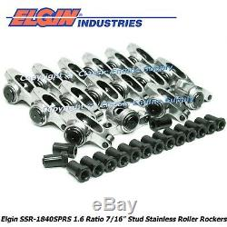 Stainless Steel Roller Rocker Arms 1.6 Ratio 7/16 Studs Chevy 400 350 327 305