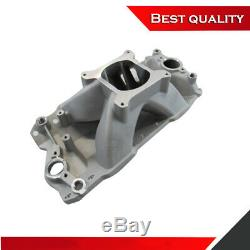 Suit 57-86 SBC Chevy 350 Tall High Rise Intake Manifold 3000-7500RPM Satin