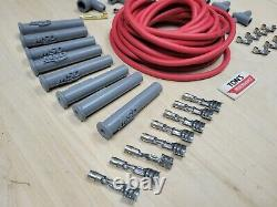 Universal MSD Super Conductor 8.5mm Red Spark Plug Wire HEI kit v8 Multi angle