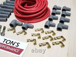 Universal MSD Super Conductor 8.5mm Red Spark Plug Wire Socket kit Multi angle