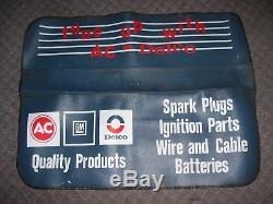 Vintage 1970s original GM CHEVROLET AC DELCO Fender Plugs Battery promo auto