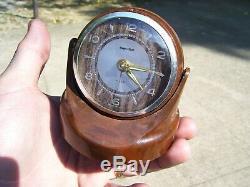 Vintage 50s auto dash clock alarm magnetic swivel gm pontiac ford chevy hot rod