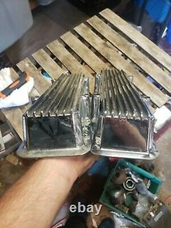 Vintage 60's SBC Chevy Keystone KVC-L Valve Covers small block 350 383 hot rod C