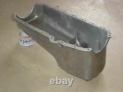 Vintage Cal Custom Small Block Chevrolet Chevy Aluminum Oil Pan Hotrod Ratrod