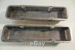 Vintage Edelbrock Small Block Chevy SBC 265 400 1959 to 1986 Finned Valve Covers