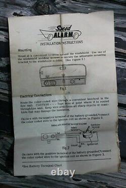 Vintage Speed Alarm nos auto gm ford chevy rat hot rod