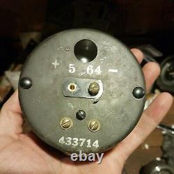 Vintage Stewart Warner Twin Blue RPM Tachometer 8K Tach and sender