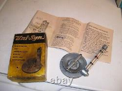 Vintage UNISYN oem Carburetor tuneup auto gm ford chevy rat hot rod tool porsche