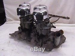 Weiand 4x2 Small Block Chevy Aluminum Intake Vintage 4 Deuce Manifold WC40 S. B. C