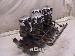 Weiand 4x2 Small Block Chevy Aluminum Intake Vintage 4 Deuce Manifold WC40 S. B. C
