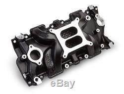 Weiand 8120BK STREET WARRIOR Black Ceramic Intake Manifold Small Block Chevy V8